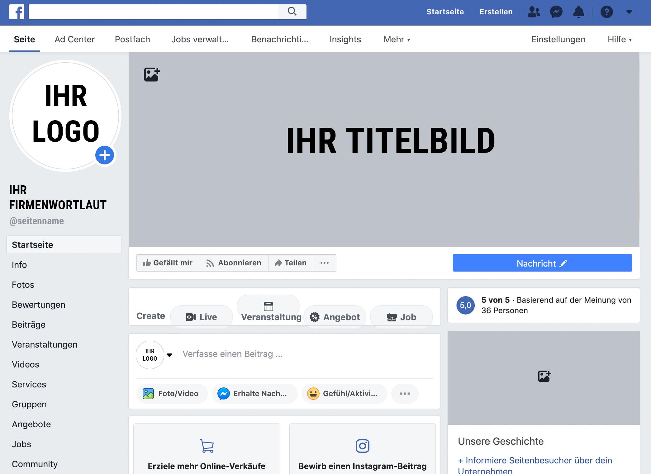 Facebook Übersicht