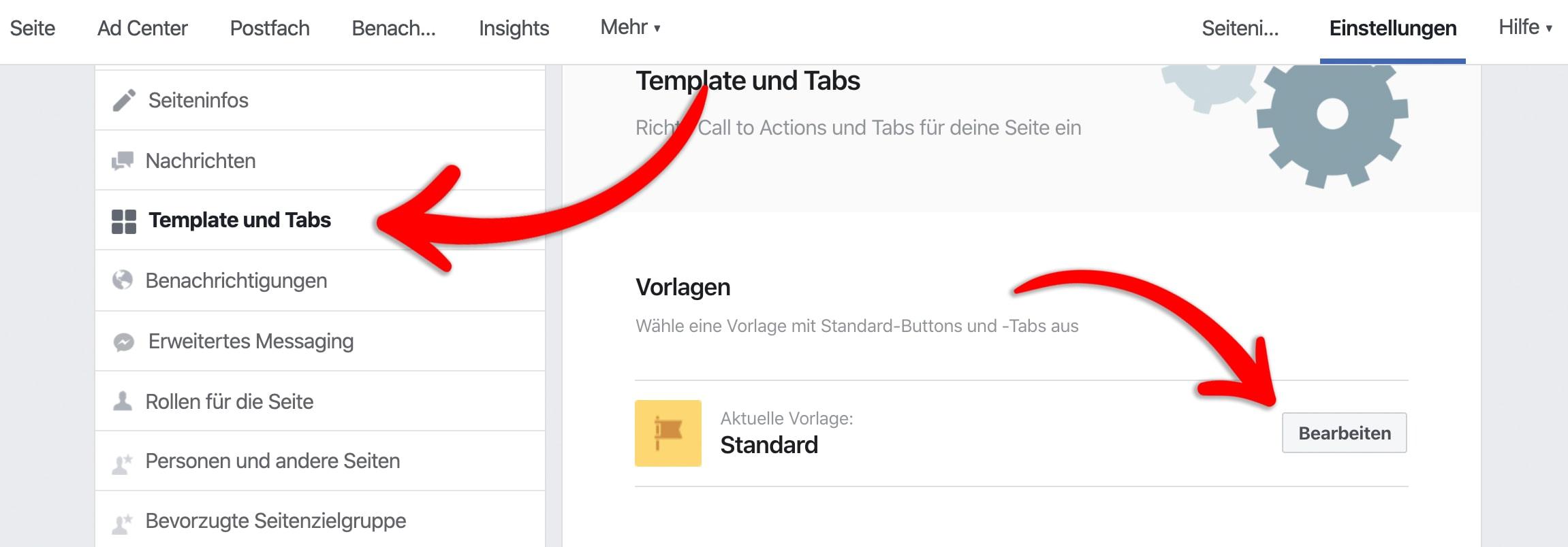 Schritt 2 - Kostenloser Facebook Shop