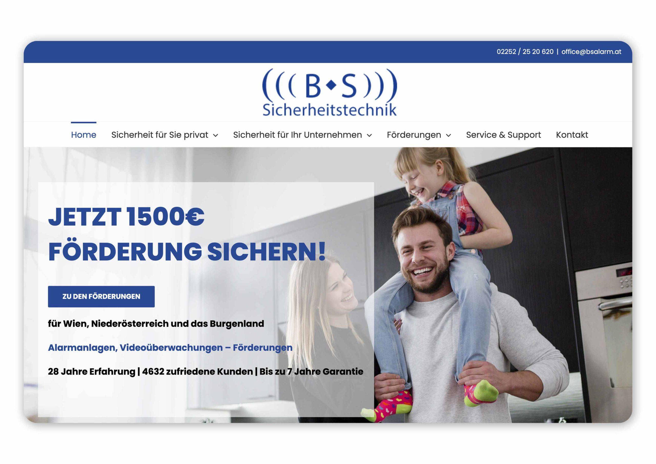 Homepage von BS Alarm