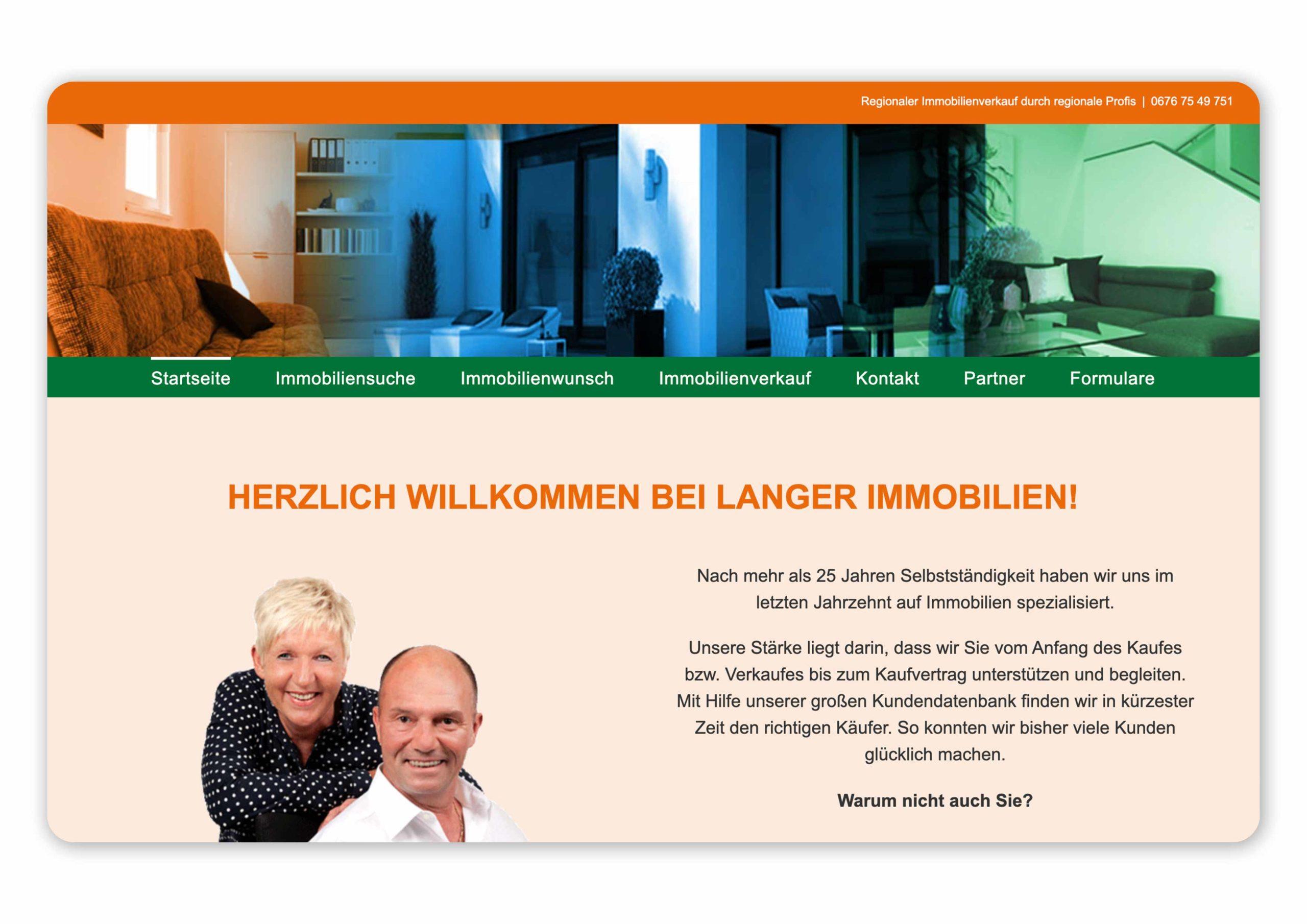 Homepage von Langer Immobilien