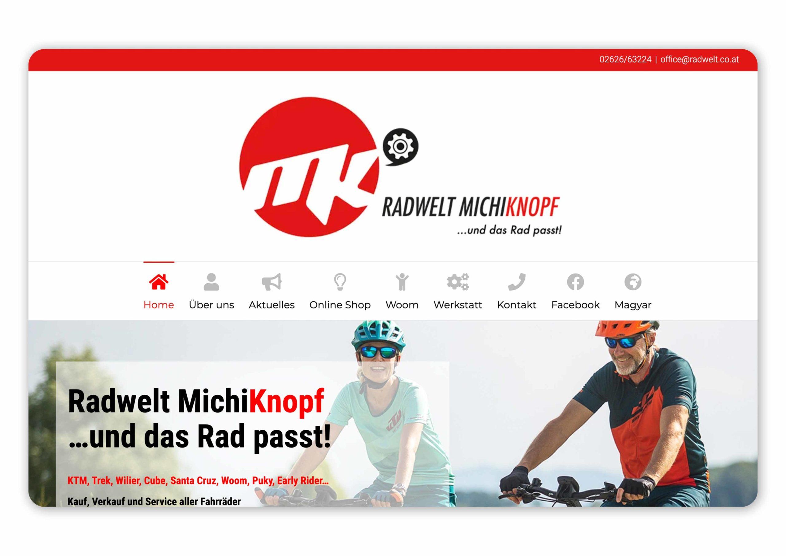 Homepage von der Radwelt MichiKnopf