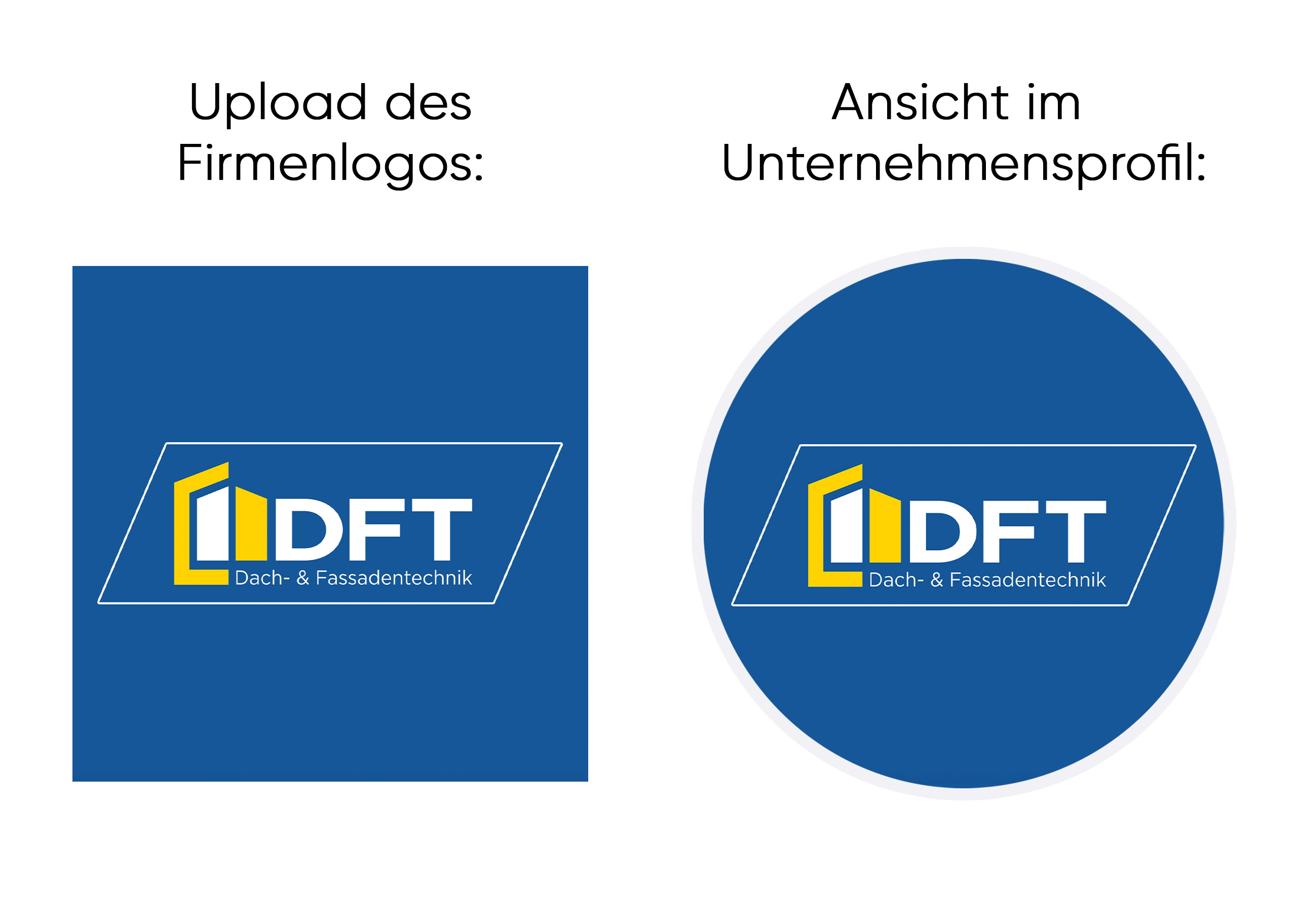 Logoansicht für Unternehmen